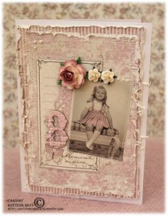 Birthday card from ***MAJA DESIGN*** ♥ the shabby chic look of this card.