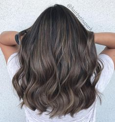 Long Wavy Ash-Brown Balayage - 20 Light Brown Hair Color Ideas for Your New Look - The Trending Hairstyle Brown Hair Cuts, Ash Brown Hair Color, Brown Hair Shades, Ash Hair, Light Brown Hair, Cool Brown Hair, Bronde Hair, Hair Color Balayage, Ombre Hair
