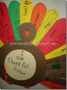 Thankful Turkey with printable pattern