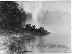 Finnish pioneers perform a water crossing (Part 1/3).