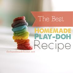 the best homemade play-doh (color intro) | the handmade home