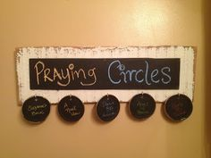 A crafty reminder to pray for your kids. Based on the Circle Maker by Mark Batterson.