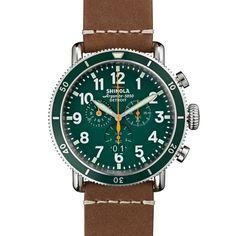 THE RUNWELL SPORT CHRONO 48mm Men's Green Chronograph Watch