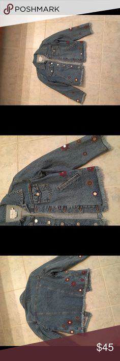 Jacket Calvin Klein jeans . One time worn. Nice jeans jacket . Look like new. Size s Calvin Klein Jeans Jackets & Coats Jean Jackets