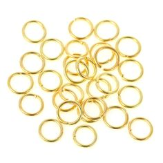 Jump Rings - 7mm Open Jump Rings - 50 or 100 Pcs - Jewelry Findings - Gold Jump Rings For Jewelry Making - Connect Charms, Tassels - JR-G07 #smallbiz #jewelrymaking