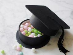 Graduation party favor box as a cap and tassel!