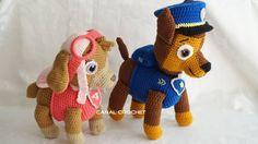 facebook: https://www.facebook.com/Canal-crochet-1166416096719575/ Patrón escrito: http://amigurumilacion.blogspot.com.es/2016/03/patrulla-canina-amigurumi-t...