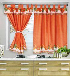 Home Decor Kitchen, Kitchen Design, Rideaux Design, Drapery Designs, Tab Top Curtains, Beautiful Curtains, Facade House, House Facades, Kitchen Curtains