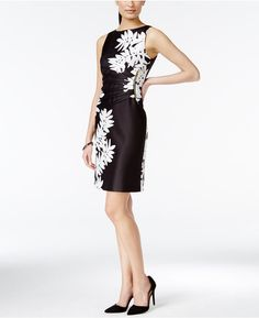Ivanka Trump Printed Sleeveless Sheath Dress