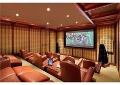 We're sure the leather seats in this home theater make watching a movie even better. Glencoe, IL $6,950,000