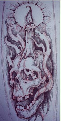Skull Flash Art Tattoos, Chicano Art Tattoos, Skull Tattoos, Body Art Tattoos, Dragon Tattoos, Skull Tattoo Design, Tattoo Design Drawings, Tattoo Sleeve Designs, Tattoo Sketches