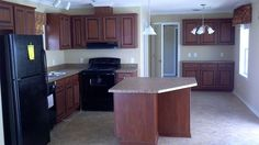 Single Wide Mobile Home Interiors Mobile Home Kitchens, Mobile Home Living, Remodeling Mobile Homes, Home Remodeling, Single Wide Remodel, Custom Closet Design, Single Wide Mobile Homes, Curtain Styles, Floating