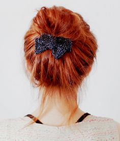 K Michelle Red Hair Bun ... Hair Bun | Hair,Nails & Make-up | Pinterest | Hair Buns, Messy Hair