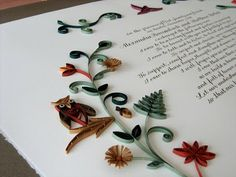 Originally a Quaker tradition, marriage certificates are an alternative to the traditional guest book.