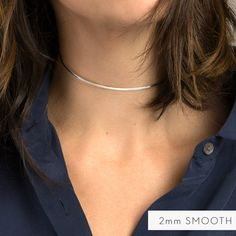 Bridesmaid gift? $35 for 2mm Silver Choker