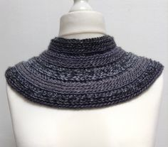 Col chauffe-épaules en nuances de gris en laine et acrylique, pour femme   d69fab2fa77