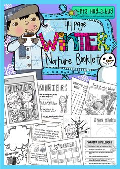 Immerse your children in some fun outdoorsy Winter experiences with this 44 page Nature booklet! Whether your part of the globe experiences heavy snow or maybe just light frost, there is bound to be something to appeal to every child in this pack! Mix and match your booklet pages from this selection of fun indoor and outdoor activities...$
