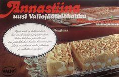Annastiina valio jäätelökakku mainos Nostalgia, Bread, Food, Eten, Bakeries, Meals, Breads, Diet