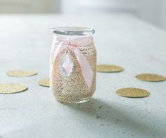 Girls' Party: Glittered Jar Candle Hostess Gift