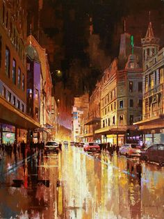 Artwork of Nasser Zadeh exhibited at Robertson Art Gallery. Original art of more than 60 top South African Artists - Since Foto Gif, Abstract City, Cityscape Art, City Painting, City Art, Nature Pictures, Fine Art Photography, Landscape Paintings, Art Gallery
