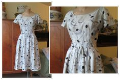 Vintage 1960s Suzy Perette Silk Floral Dress with FLAWS - 35 bust - As-Is by dandelionvintage