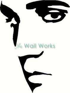 elvis presley silhouettes   Elvis Vinyl Decal   Car Decal   People Decals   The Wall Works