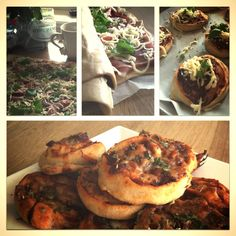 Pizza snurrer! Med serrano skinke, basilikum, rødløk og mozarella! Perfekt snack!:)