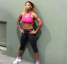 Serena Williams shows off ripped six-pack as world No 1 gets ready ...