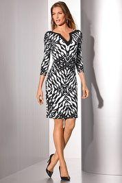 Graphic print tunic dress