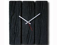 Verbrannte Holz Uhr, Home Dekor, Original-Uhr, handgefertigte Uhr, design, Uhr, Uhren, rustikale Uhr,