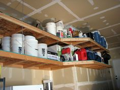 With warm spring days on the way, many of you will be doing some spring cleaning.  Do you have a place where you can put away all your winter/seasonal items?  By installing overhead garage shelving...