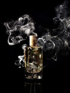 Still life Photographer Candice Milon - Hermès perfume #smoke #fragrance bottle