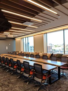 Commercial Furniture, Commercial Interior Design, Office Interior Design, Commercial Interiors, Office Interiors, Office Ceiling Design, Conference Room Design, Conference Table, White Oak Lumber