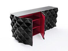 Intriguing Furniture Designs by Joel Escalona : Rocky Collection Bureau Design, Furniture Plans, Home Furniture, Furniture Design, Furniture Storage, Unusual Furniture, Mexican Designs, Red Rooms, Wardrobe Design