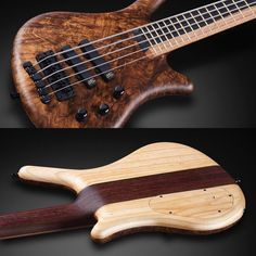 """Thumb NT with 1"""" black Walnut top, Swamp Ash back wood and 5 pcs neck lamination with Purple Heart wood #warwick #framus #warwickbass #framusguitar #bass #guitar #instrument #music #musician #sound #strings #wood #woodporn #play #player #color #colorful #amps #amplification #acoustic #acousticguitar"""