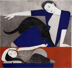 ebo Gallery featuring artworks by renowned artist Will Barnet. Fine art prints and paintings of representational, abstract, simple, elegant figures and flat Figurative Prints, Lithograph Print, Original Prints, Barnet, Sign Art, Cat Art, Reading Art, Art, Print Artist