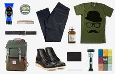 No-Shave November is less than four days away. Start your beard-growing endeavors off right with these Movember essentials. Man's Face Stuff Mustache Wax ($10). One Thousand Mustaches: A Cultural History Of The Mo ($11). Imogene + Willie Barton Slim Rigid Jeans ($250). Mustache Hat Wayfarer Movember T-Shirt ($19). Jack Black Beard Lube ($33+). Original Chippewa Moc Toe Wedge Boots ($220). Philips Norelco Bodygroom 7100 ($60). Topo Designs Rover Pack ($139). Get It Together Brass Comb ($23)…