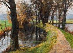 Olga Wisinger-Florian Der Fürstenweg in Raitz (Südmähren), 1906 Öl auf Leinwand; 101,5 × 135,5 cm EUR 50.000-100.000