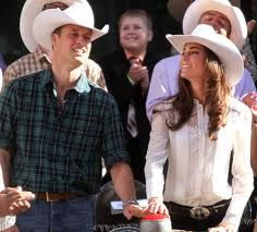 Kate wore a white Temperley blouse with jeans and a white Stetson cowboy hat to attend the Calgary Stampede on July Prince William And Kate, William Kate, Duchess Kate, Duchess Of Cambridge, Temperley, Princess Kate, British Royals, Calgary, Kate Middleton