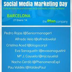Ponentes del #SMMDay de #Barcelona