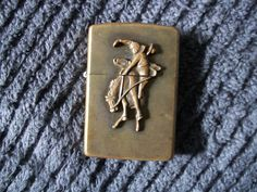 Vintage Zippo Lighter Brass Marlboro Rodeo Rider by RickyBees