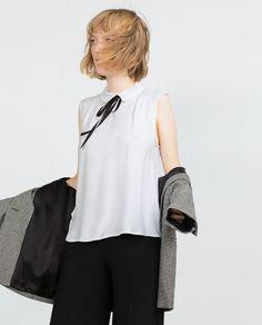 BLUSA GOLA COMBINADA 29,95€ Zara
