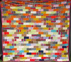 stacked brick quilt (50s/60s)