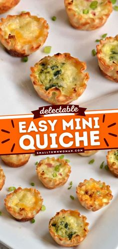 10 reviews · 30 minutes · Serves 30 · This Mini Quiche is baked in phyllo shells with vegetables, meats, and cheeses! This party food appetizer comes together quickly. It's an easy party food recipe that is one of the best 4th of July… Brunch Recipes, Appetizer Recipes, Appetizers, Sweet Recipes, Breakfast Recipes, Vegan Recipes, Dinner Recipes, Football Finger Foods, Mini Breakfast Quiche