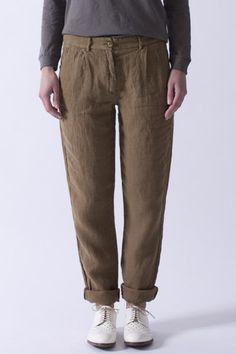 Sand Linen Trouser   Pomandere