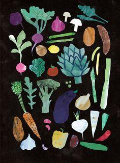 Vegetables Print - Louise Lockhart | Illustration | Design | The Printed Peanut