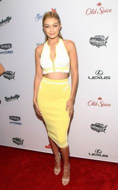 Gigi Hadid at the Sports Illustrated Swimsuit Edition Celebration at Marquee in New York. See all of the model's best looks.