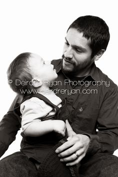 On location studio session with a Father and his one year old little baby boy. www.dryanphoto.com