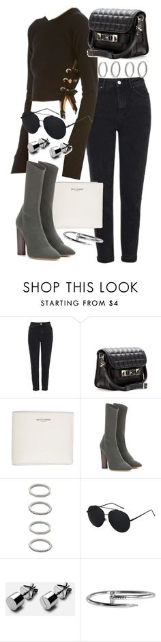 """""""Untitled #20510"""" by florencia95 ❤ liked on Polyvore featuring Topshop, Proenza Schouler, Yves Saint Laurent, adidas Originals and Forever 21"""
