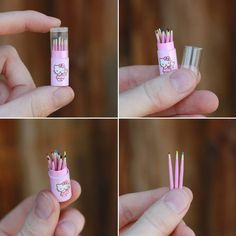 Miniature case with pencils. by striped-box on DeviantArt Miniature case with pencils. by striped-box Miniature Crafts, Miniature Dolls, Miniature Houses, Doll Crafts, Cute Crafts, Diy Dollhouse, Dollhouse Miniatures, Victorian Dollhouse, Modern Dollhouse